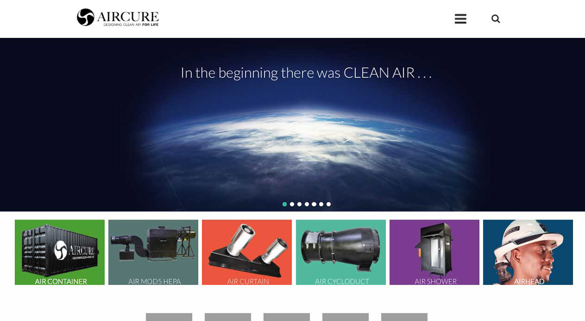 Aircure website