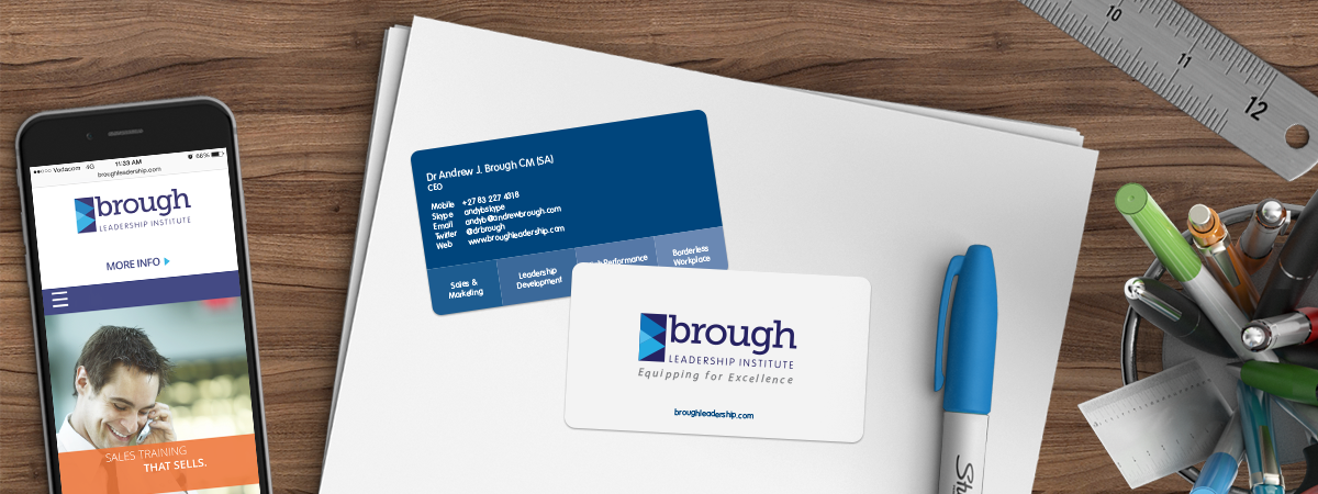 Brough Leadership Institute Business Cards