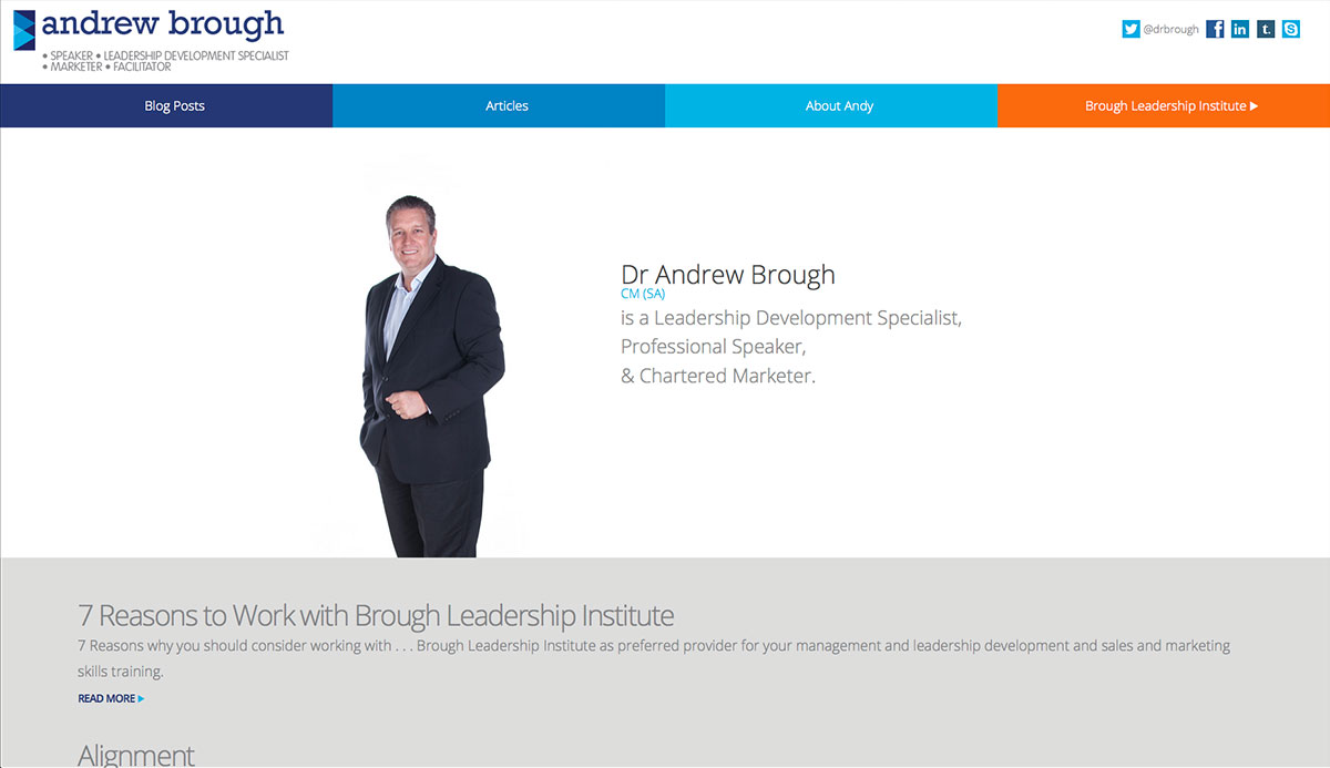 Andrewbrough website