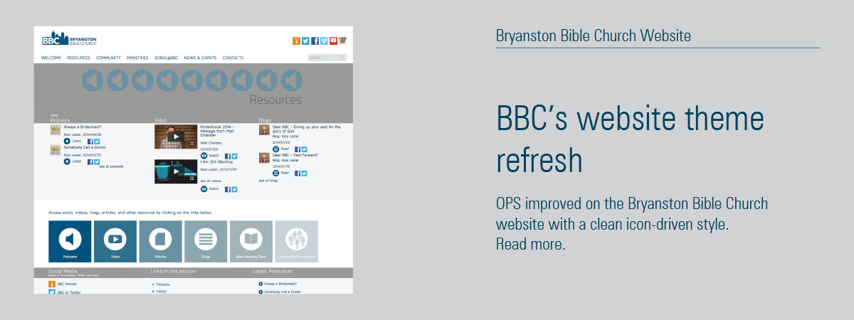 Bryanston Bible Church Website Refresh