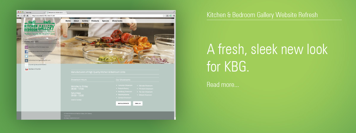 Kitchen & Bedroom Gallery Website Revamp
