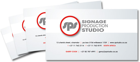 Signage Production Studio Corporate Identity