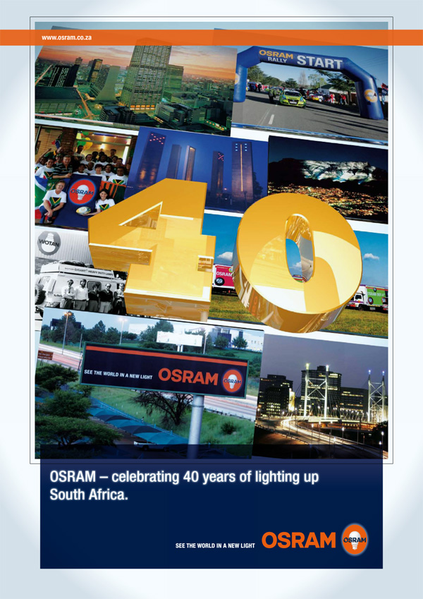 OSRAM 40 years in SA Advert