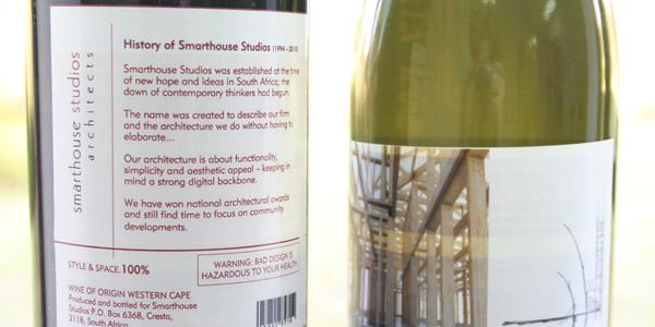 Smarthouse Studios Wine Labels - Back Label