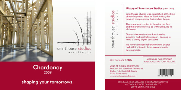 Smarthouse Studios Wine Labels: Artwork