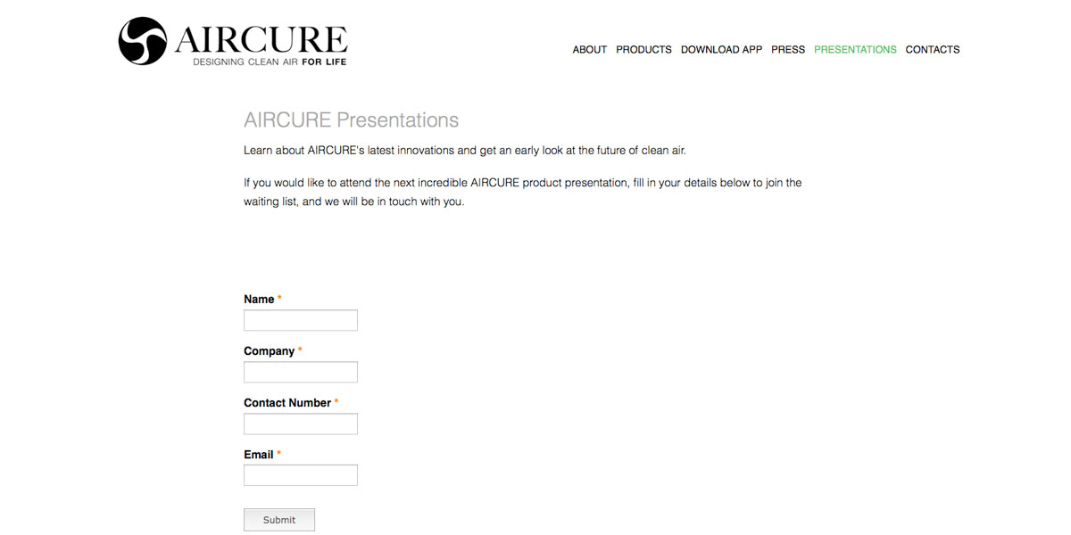 Aircure Presentations
